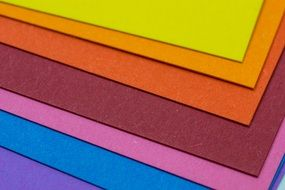 Set of colored paper