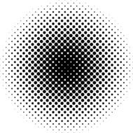 black and white pattern of dots