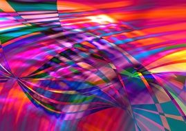 abstract pattern of colored wave lines