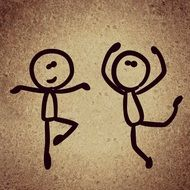 dancing funny stick figures