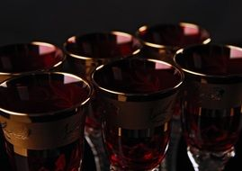 glasses with red liquor