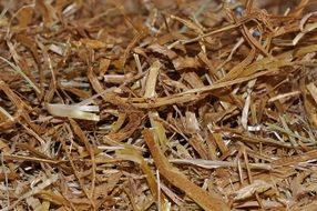 straw litter natural material close