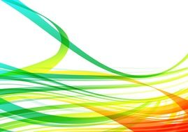 abstract pattern colorful lines wave white background
