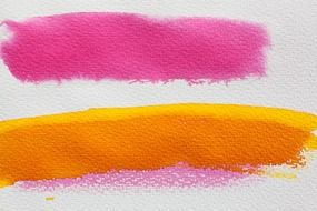 pink and yellow smear on paper