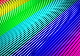lines of rainbow colors