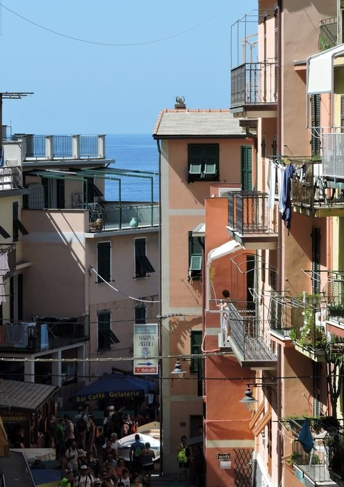 houses with balconies in riomaggiore