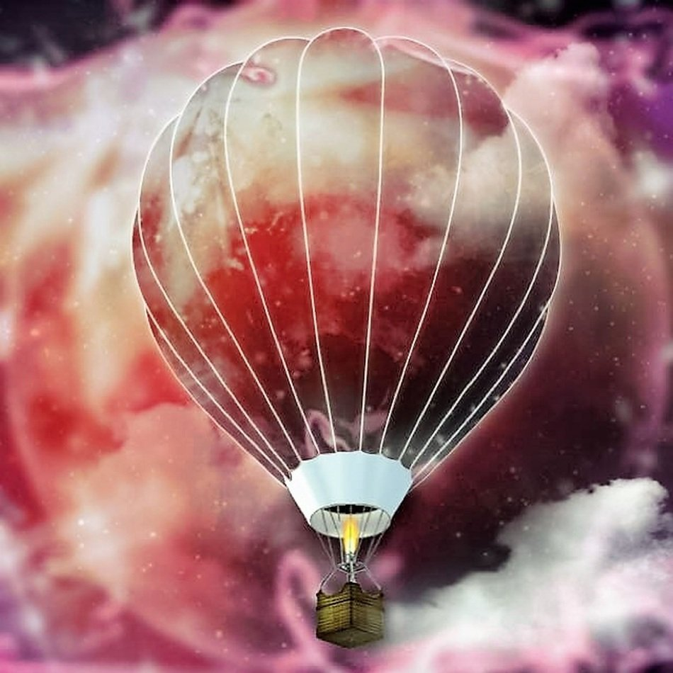 emotions hot air balloon background