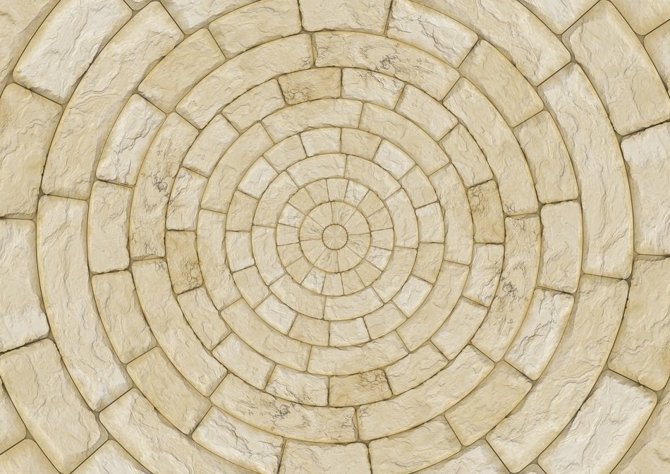stones patch circle arches pattern texture