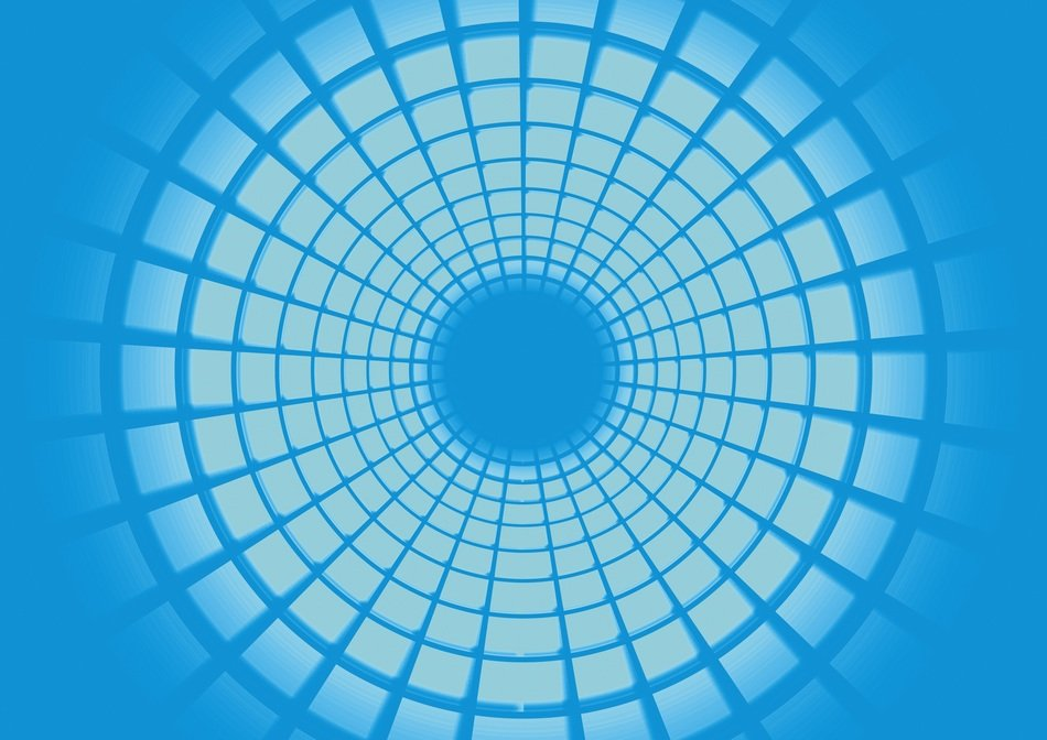white blue rings circle concentric background