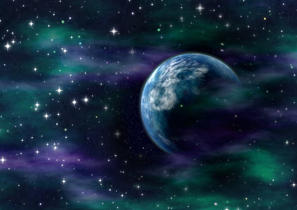 blue cosmic space background