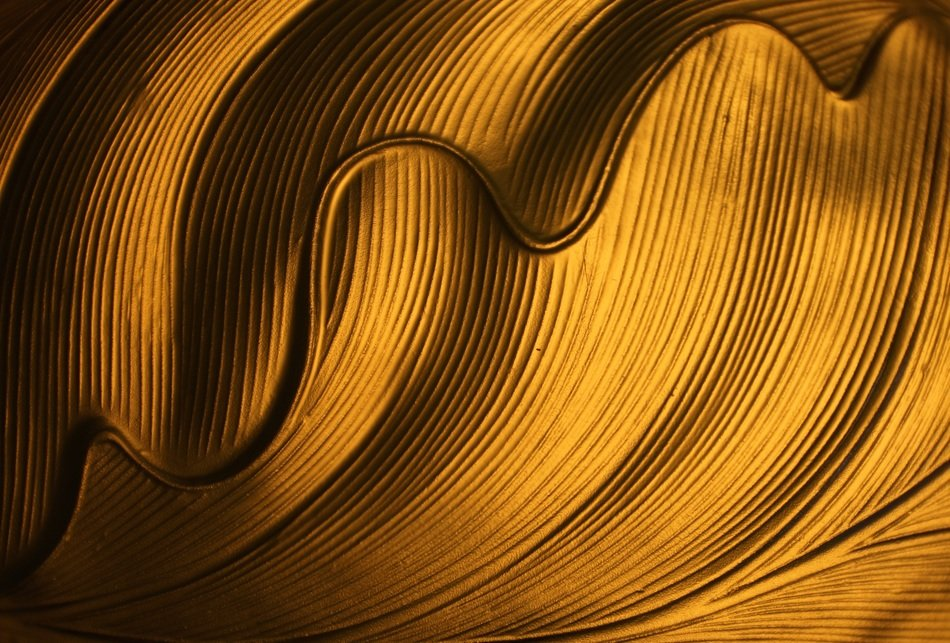 golden yellow waves pattern structure background