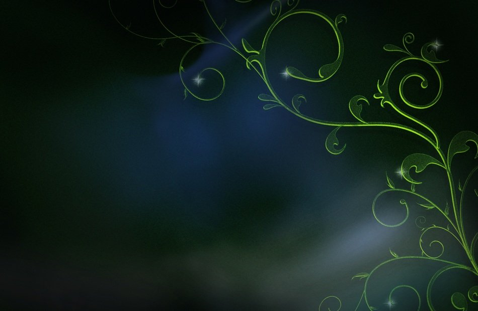 dark blue background green design
