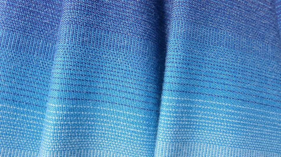 blue fabric fold stripes texture