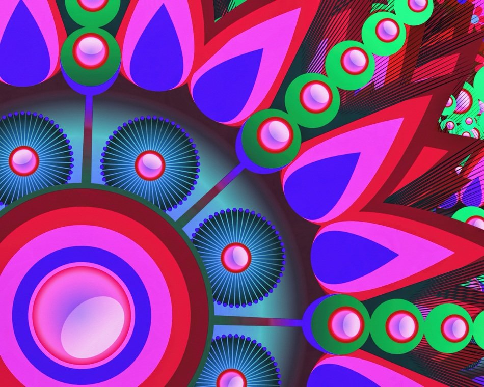 abstract digital art colorful pattern