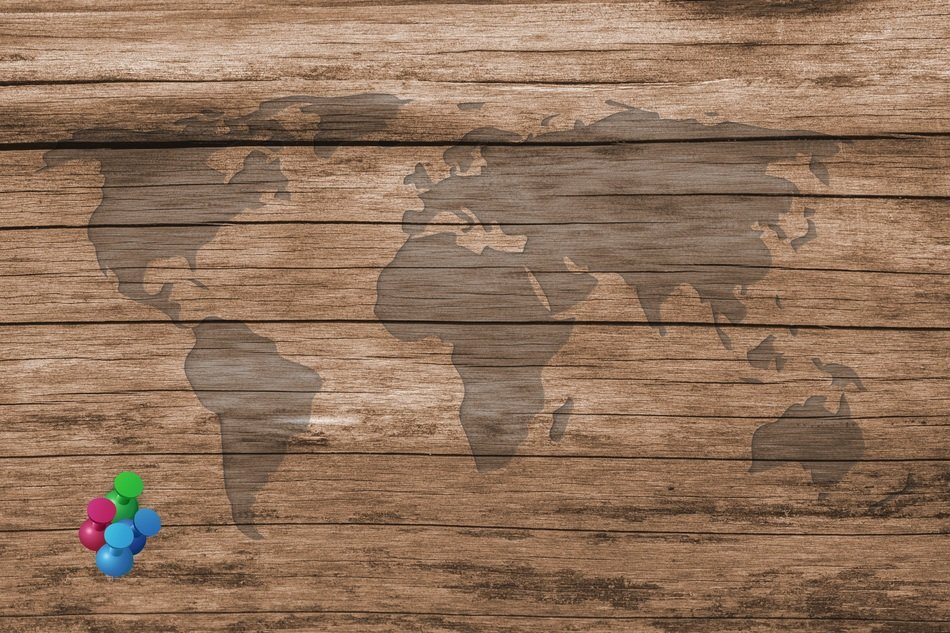 wooden texture map of the world background