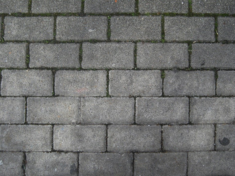 Grey stone pavement