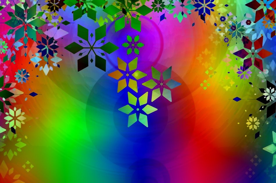 colorful flowers ornament background pattern district rays