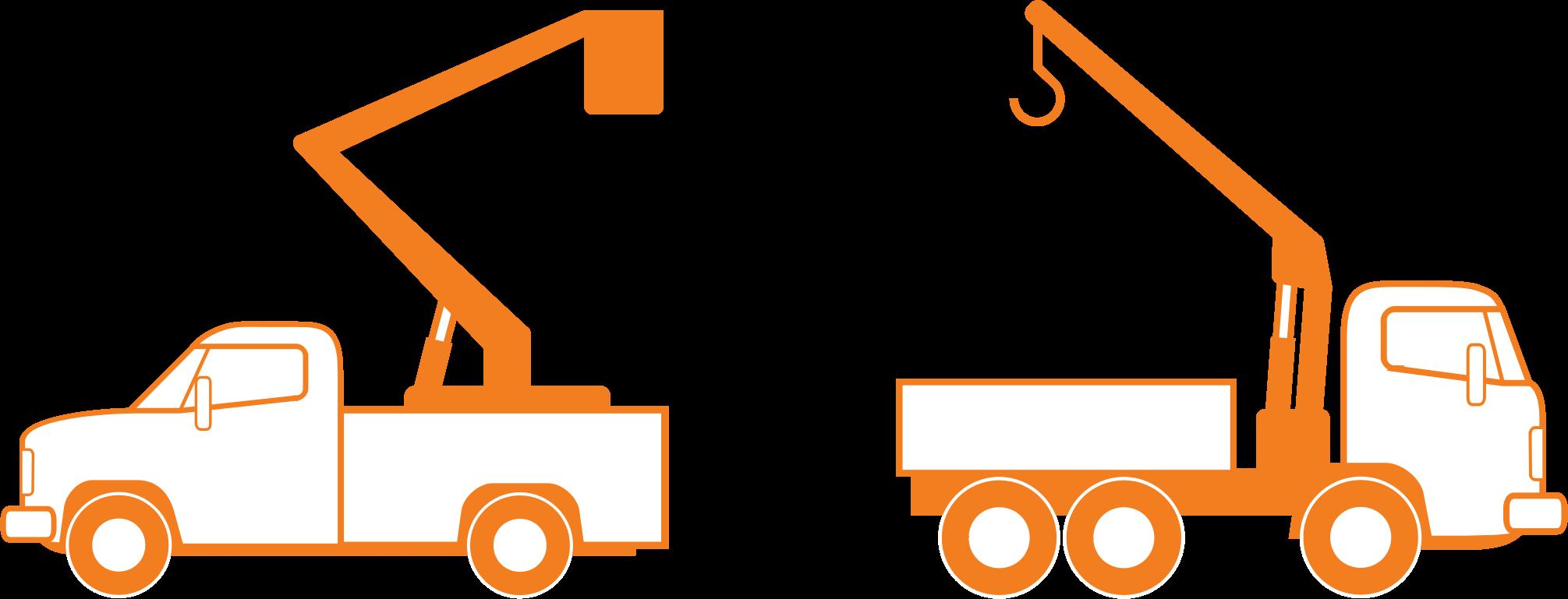 Orange Bucket Truck Clip Art Drawing Free Image