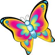 Cartoon Butterfly Clip Art drawing