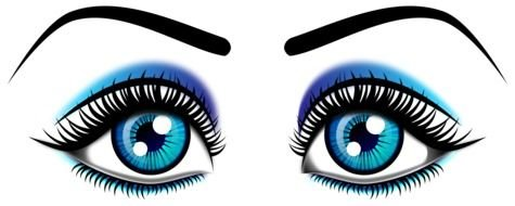 blue Eye Clip Art drawing