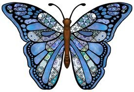Clip Art Butterfly Wings drawing