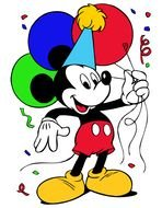 Mickey Mouse Birthday balloon card drawing