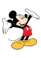 Mickey Mouse happy drawing