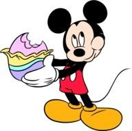 Mickey Mouse Easter drawing