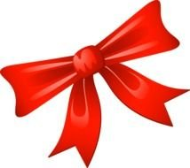 Red Christmas Bow Clip Art N3