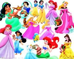 Different Disney Characters clipart