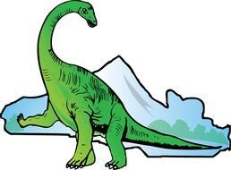 green Dinosaur Clip Art drawing