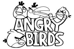 Clip art of Angry Birds logo