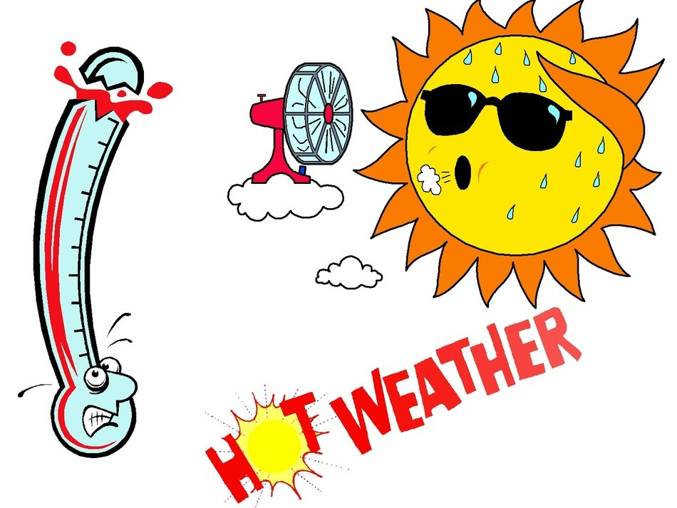 Hot Weather Clip Art drawing