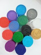 WOW! Assortment of 14 Multi Color 13 Dram Pop Top Bottle Vial Container Van Cave N2