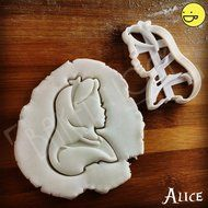 FULL SET of 4 Alice in Wonderland Characters Cookie Cutters | Alice Kingsley, Mad Hatter, White Rabbit and Cheshire... N2
