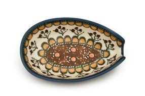 Polish Pottery Golden Pastures Small Spoon Rest