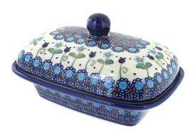 Polish Pottery Savannah Butter Dish