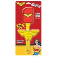 DC Comics Character Cookie Cutter and Spatula - Choose from Batman, Superman, or Wonder Woman Combo Pack (Wonder...