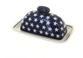 Polish Pottery Stars Butter Dish