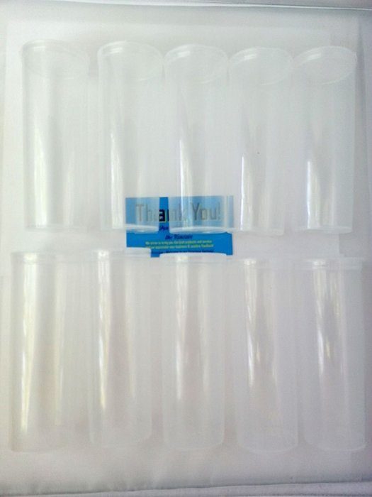 Clear 10 Pack-13 Dram Translucent Pop Top Bottles Vial Containers by Van Cave