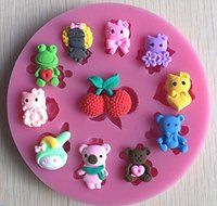 HSE AnimalS silicone mold silicone molds Fondant Cake Decoration Sugar Craft Tools baking tools cake tools