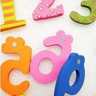 ASDOMO Cartoon Educational Toy Wooden Fridge Magnet For Baby Kid Gift Numbers 10 PCS N3