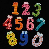 ASDOMO Cartoon Educational Toy Wooden Fridge Magnet For Baby Kid Gift Numbers 10 PCS N5