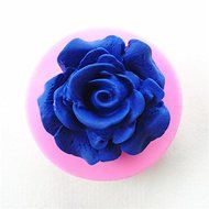 Wocuz W0649 Silicone Single Hole Rose Flower Silicone Mold Fondant Mold Sugar Craft Tools Resin Flower Mould Molds...