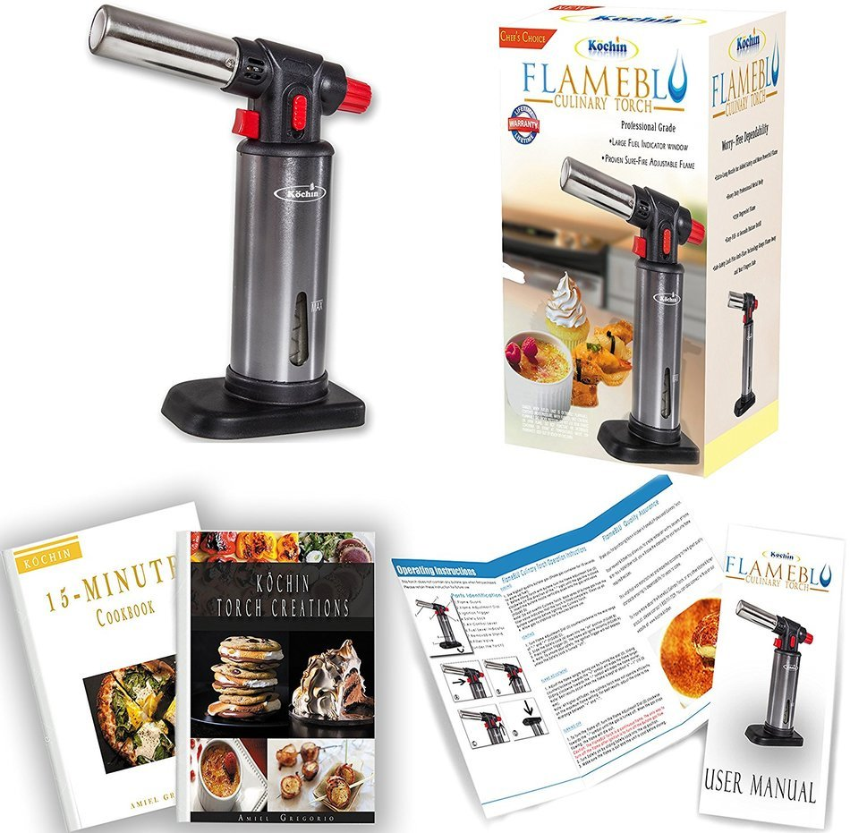 Culinary Torch - Kitchen Creme Brulee Cooking - Professional Chef ...