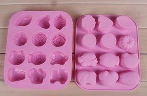 DGI MART Party Supplies 12-cavity Cute Lovely Elephant Lovely Pattern Shaped Ice Cake Chocolate Sugar Decorating...