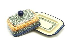Polish Pottery Butter Dish - Autumn
