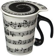 Moyishi Musical Notes Holds Piano Song Coffee Milk Ceramic Mug Cup Best Gift