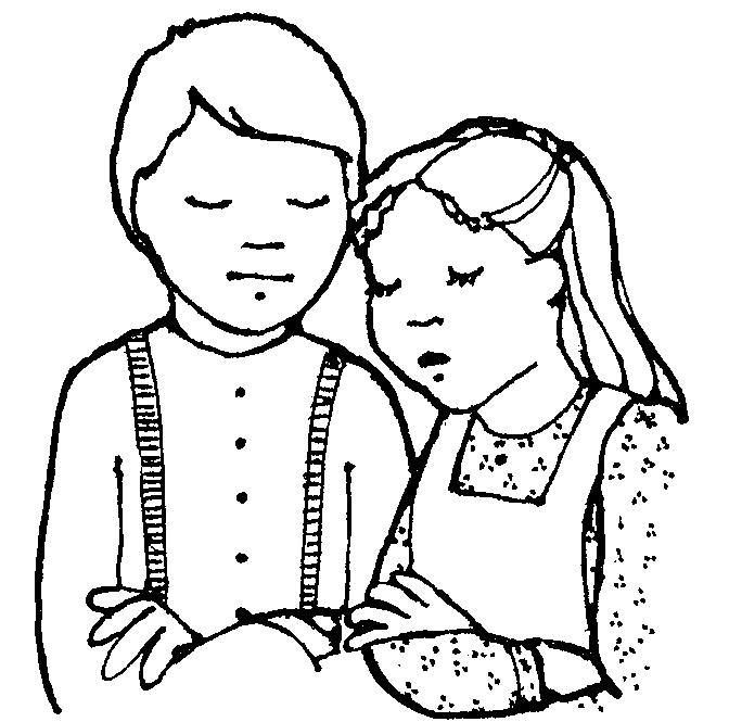 Lds Child Praying Coloring Page Free Image