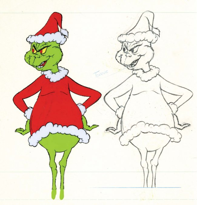 Christmas Cartoon Drawings.How The Grinch Stole Christmas Cartoon Drawings Free Image